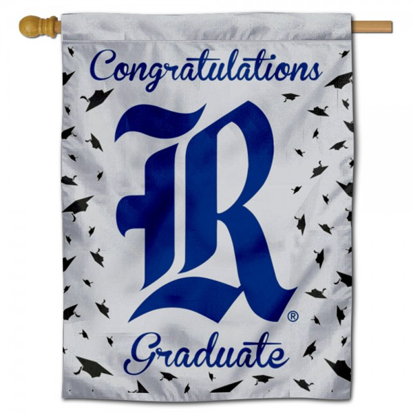 Rice Owls Congratulations Graduate Flag measures 30x40 inches, is made of poly, has a top hanging sleeve, and offers dye sublimated Rice Owls logos. This Decorative Rice Owls Congratulations Graduate House Flag is officially licensed by the NCAA.