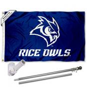 Rice Owls Flag Pole and Bracket Kit