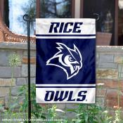 Rice Owls Garden Flag
