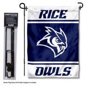 Rice Owls Garden Flag and Pole Stand Holder