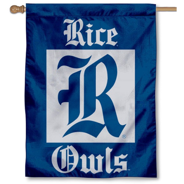 Rice Owls Home Flag is a vertical house flag which measures 30x40 inches, is made of 2 ply 100% polyester, offers dye sublimated NCAA team insignias, and has a top pole sleeve to hang vertically. Our Rice Owls Home Flag is officially licensed by the selected university and the NCAA.