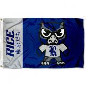 Rice Owls Kawaii Tokyodachi Yuru Kyara Flag