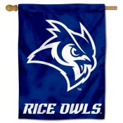 Rice Owls Logo Banner Flag