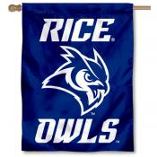 Rice Owls New Owl Logo Double Sided House Flag
