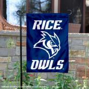 Rice Owls New Owl Logo Garden Flag