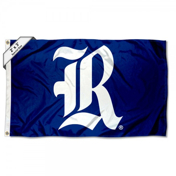 Rice Owls Small 2'x3' Flag measures 2x3 feet, is made of 100% polyester, offers quadruple stitched flyends, has two brass grommets, and offers printed Rice Owls logos, letters, and insignias. Our 2x3 foot flag is Officially Licensed by the selected university.