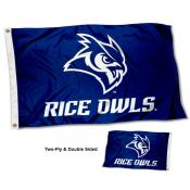 Rice Owls Wordmark Double Sided Flag