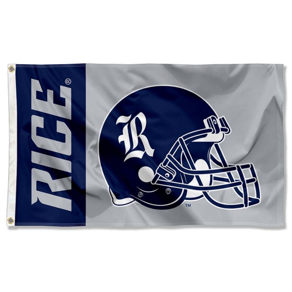 Rice University 3x5 Flag measures 3'x5', is made of 100% poly, has quadruple stitched sewing, two metal grommets, and has double sided Rice University logos. Our Rice University 3x5 Flag is officially licensed by the selected university and the NCAA