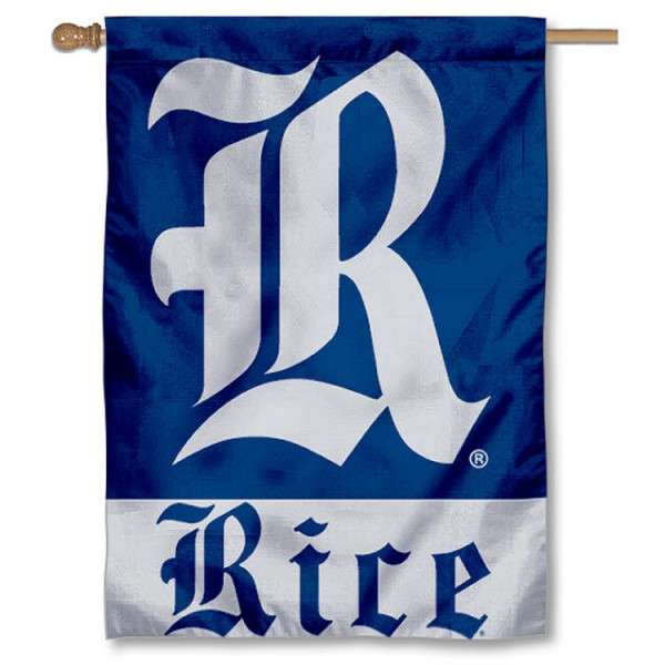 Rice University House Flag is a vertical house flag which measures 28x40 inches, is made of 2 ply 100% nylon, offers dye sublimated NCAA team insignias, and has a top pole sleeve to hang vertically. Our Rice University House Flag is officially licensed by the selected university and the NCAA