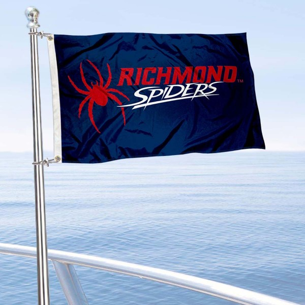 Richmond Spiders Boat and Mini Flag is 12x18 inches, polyester, offers quadruple stitched flyends for durability, has two metal grommets, and is double sided. Our mini flags for University of Richmond are licensed by the university and NCAA and can be used as a boat flag, motorcycle flag, golf cart flag, or ATV flag.
