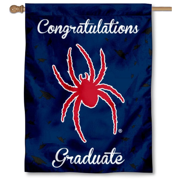Richmond Spiders Congratulations Graduate Flag measures 30x40 inches, is made of poly, has a top hanging sleeve, and offers dye sublimated Richmond Spiders logos. This Decorative Richmond Spiders Congratulations Graduate House Flag is officially licensed by the NCAA.