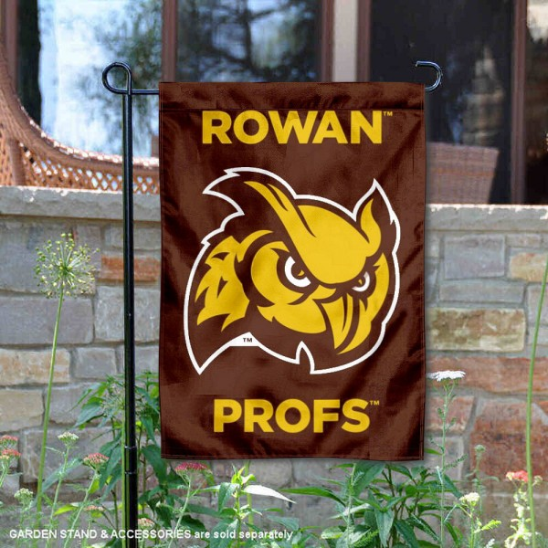 Rowan Profs Double Sided Garden Flag is 13x18 inches in size, is made of 2-layer polyester, screen printed university athletic logos and lettering, and is readable and viewable correctly on both sides. Available with same day shipping, our Rowan Profs Double Sided Garden Flag is officially licensed and team approved by the university and the NCAA.