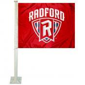 RU Highlanders Logo Car Flag