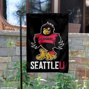 Rudy the Redhawks Garden Flag