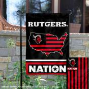 Rutgers Garden Flag with USA Country Stars and Stripes
