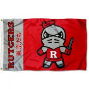 Rutgers Kawaii Tokyodachi Yuru Kyara Flag
