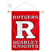 Rutgers Scarlet Knights Banner with Suction Cup