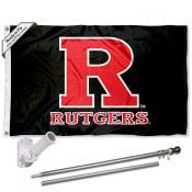 Rutgers Scarlet Knights Flag Pole and Bracket Kit