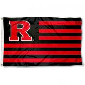 Rutgers Scarlet Knights Stripes Flag