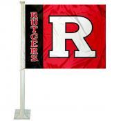 Rutgers University Car Window Flag