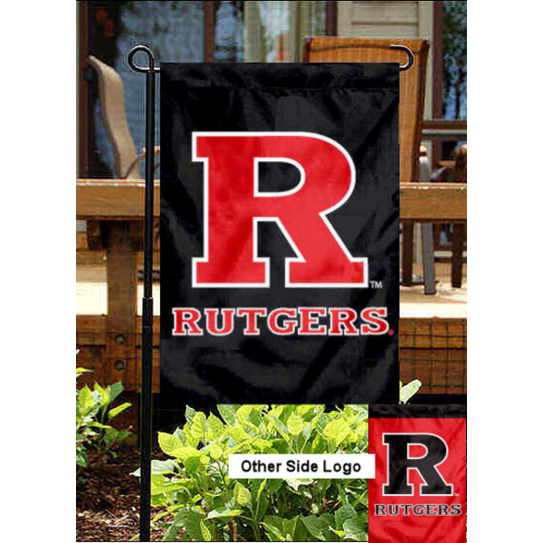 Rutgers University Double Logo Garden Flag is 13x18 inches in size, is made of 2-layer polyester, screen printed Rutgers University Double Logo athletic logos and lettering. Available with Same Day Express Shipping, Our Rutgers University Double Logo Garden Flag is officially licensed and approved by Rutgers University Double Logo and the NCAA.