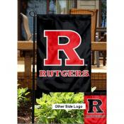 Rutgers University Double Logo Garden Flag