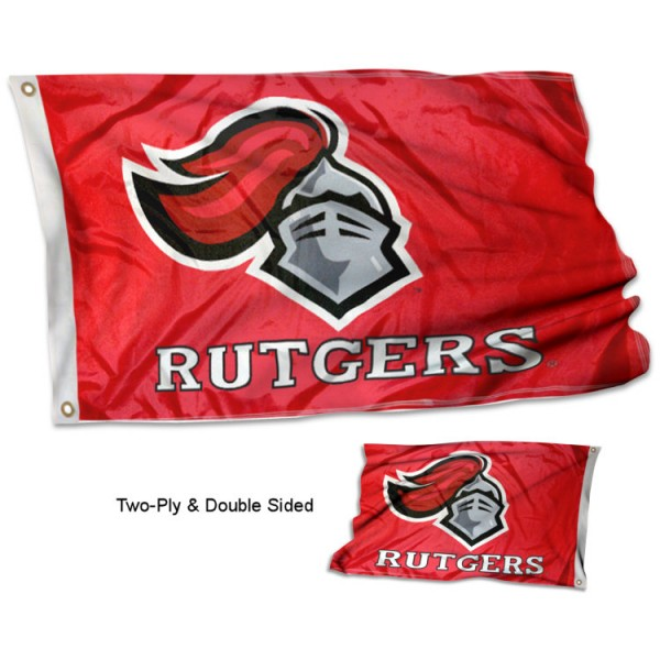 Rutgers University Flag measures 3'x5' in size, is made of 2 layer 100% poly, has quadruple stitched fly ends for durability, and is viewable and readable correctly on both sides. Our Rutgers University Flag is officially licensed by the university, school, and the NCAA