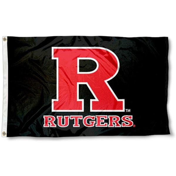 Rutgers University Flag - Black measures 3'x5', is made of 100% poly, has quadruple stitched sewing, two metal grommets, and has double sided Rutgers University logos. Our Rutgers University Flag - Black is officially licensed by the selected university and the NCAA