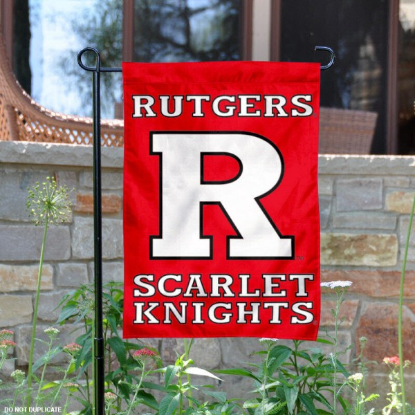 Rutgers University Garden Flag is 13x18 inches in size, is made of 2-layer polyester, screen printed Rutgers University athletic logos and lettering. Available with Same Day Express Shipping, Our Rutgers University Garden Flag is officially licensed and approved by Rutgers University and the NCAA.