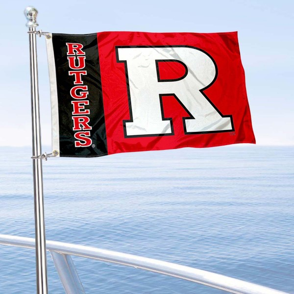 Rutgers University Golf Cart Flag is a small 12x18 inches, made of 2-ply polyester with quad stitched flyends, and is double-sided. Our Golf Cart Logo Flags are Officially Licensed and Approved by Rutgers and NCAA.