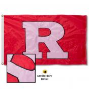 Rutgers University Nylon Embroidered Flag