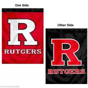 Rutgers University Red/Black Logo House Flag