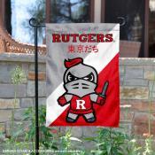 Rutgers University Tokyo Dachi Mascot Yard Flag