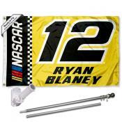 Ryan Blaney Flag Pole and Bracket Mount Kit
