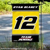 Ryan Blaney NASCAR Driver Double Sided Garden Flag