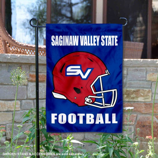 Saginaw Valley State Cardinals Helmet Yard Garden Flag is 13x18 inches in size, is made of 2-layer polyester with Liner, screen printed university athletic logos and lettering, and is readable and viewable correctly on both sides. Available same day shipping, our Saginaw Valley State Cardinals Helmet Yard Garden Flag is officially licensed and approved by the university and the NCAA.
