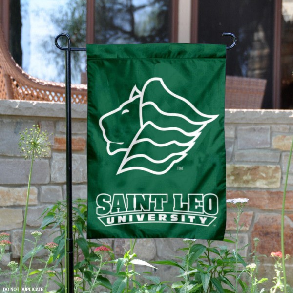 Saint Leo University Garden Flag is 13x18 inches in size, is made of 2-layer polyester, screen printed university athletic logos and lettering, and is readable and viewable correctly on both sides. Available same day shipping, our Saint Leo University Garden Flag is officially licensed and approved by the university and the NCAA.