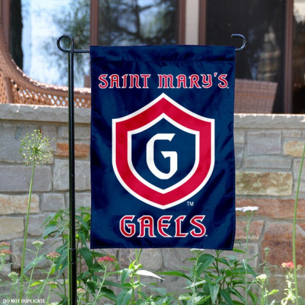 Saint Mary's College Garden Flag is 13x18 inches in size, is made of 2-layer polyester, screen printed Saint Mary's College athletic logos and lettering. Available with Same Day Express Shipping, Our Saint Mary's College Garden Flag is officially licensed and approved by Saint Mary's College and the NCAA.