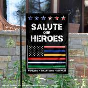 Salute Our Workers and Services Garden Flag
