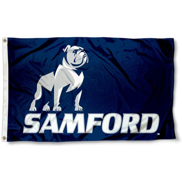 Samford Bulldogs New Logo Flag measures 3x5 feet, is made of 100% polyester, offers quadruple stitched flyends, has two metal grommets, and offers screen printed NCAA team logos and insignias. Our Samford Bulldogs New Logo Flag is officially licensed by the selected university and NCAA.