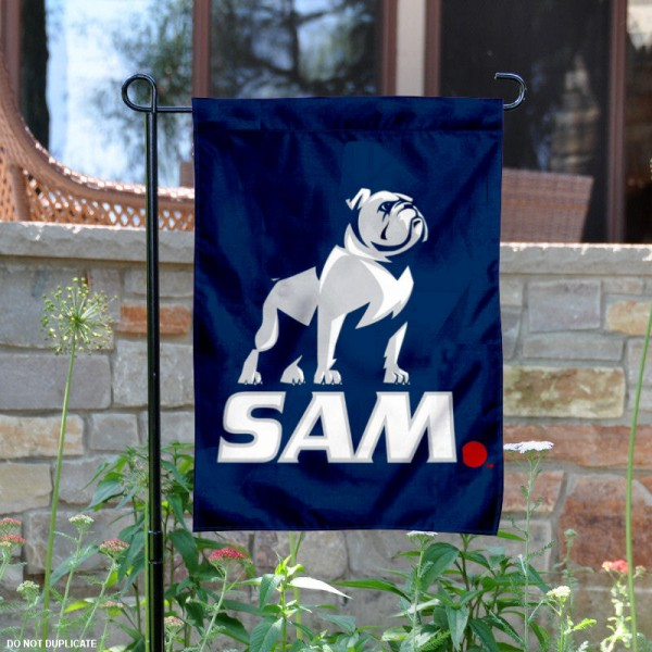 Samford Bulldogs SAM New Logo Garden Flag is 13x18 inches in size, is made of 2-layer polyester, screen printed university athletic logos and lettering, and is readable and viewable correctly on both sides. Available same day shipping, our Samford Bulldogs SAM New Logo Garden Flag is officially licensed and approved by the university and the NCAA.