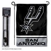 San Antonio Spurs Garden Flag and Flagpole Stand
