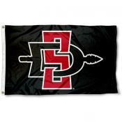 San Diego State Athletic Logo Flag