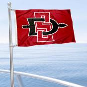 San Diego State Aztecs Boat and Mini Flag