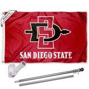 San Diego State Aztecs Flag Pole and Bracket Kit