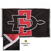 San Diego State Aztecs Nylon Embroidered Flag