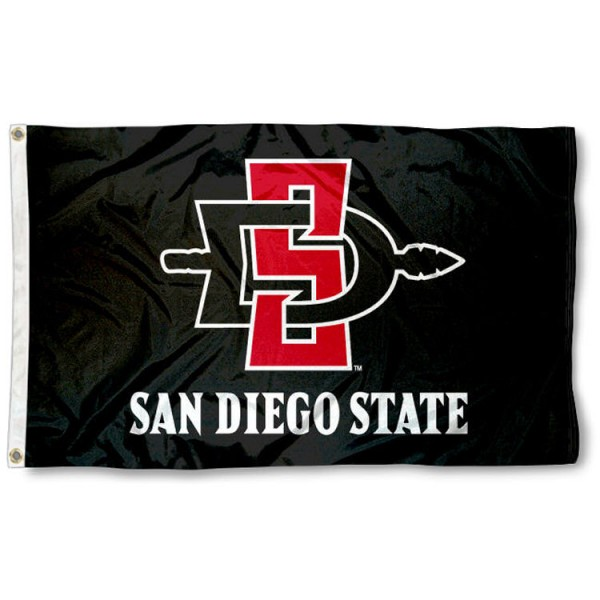 San Diego State University 3x5 Flag is made of 100% nylon, offers quad stitched flyends, measures 3x5 feet, has two metal grommets, and is viewable from both side with the opposite side being a reverse image. Our San Diego State University 3x5 Flag is officially licensed by the selected college and NCAA.