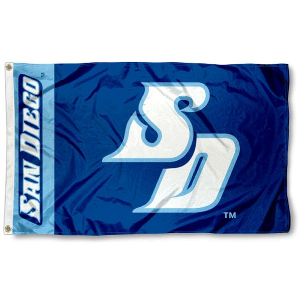 San Diego Toreros 3x5 Flag is made of 100% nylon, offers quad stitched flyends, measures 3x5 feet, has two metal grommets, and is viewable from both side with the opposite side being a reverse image. Our San Diego Toreros 3x5 Flag is officially licensed by the selected college and NCAA