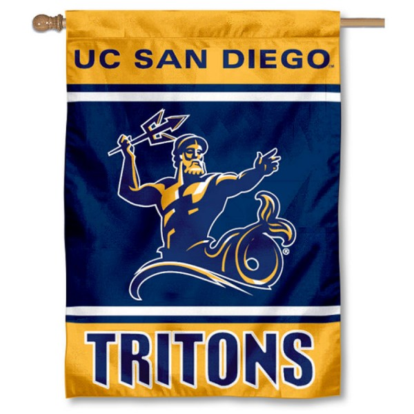 San Diego Tritons Double Sided Banner is a vertical house flag which measures 28x40 inches, is made of 2 ply 100% nylon, offers screen printed NCAA team insignias, and has a top pole sleeve to hang vertically. Our San Diego Tritons Double Sided Banner is officially licensed by the selected university and the NCAA.