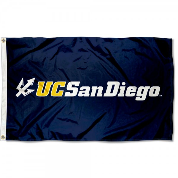 San Diego Tritons Flag measures 3x5 feet, is made of 100% polyester, offers quadruple stitched flyends, has two metal grommets, and offers screen printed NCAA team logos and insignias. Our San Diego Tritons Flag is officially licensed by the selected university and NCAA.